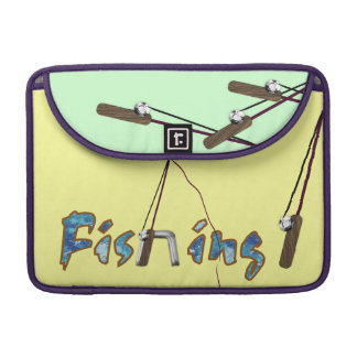 Fishing with Rod MacBook Pro Sleeve