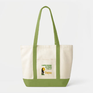 Fishing With Stepson Tote Bags