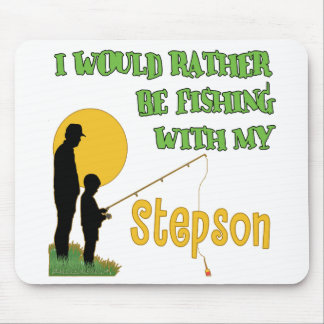 Fishing With Stepson Mouse Pads