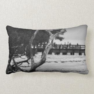 Fishing without color lumbar pillow