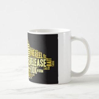 Fishing Word Cloud Coffee Mug