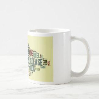 Fishing Word Cloud Coffee Mugs