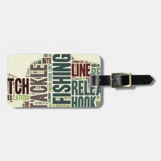 Fishing Word Cloud Tag For Luggage