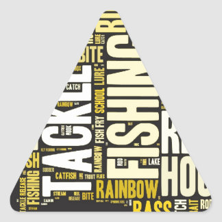 Fishing Word Cloud Triangle Sticker