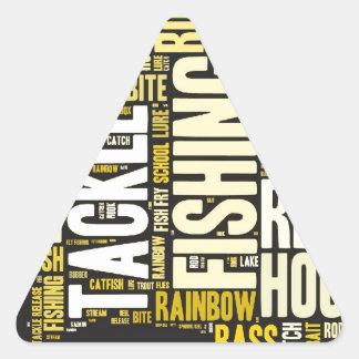 Fishing Word Cloud Triangle Sticker