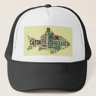 Fishing Word Cloud Trucker Hat