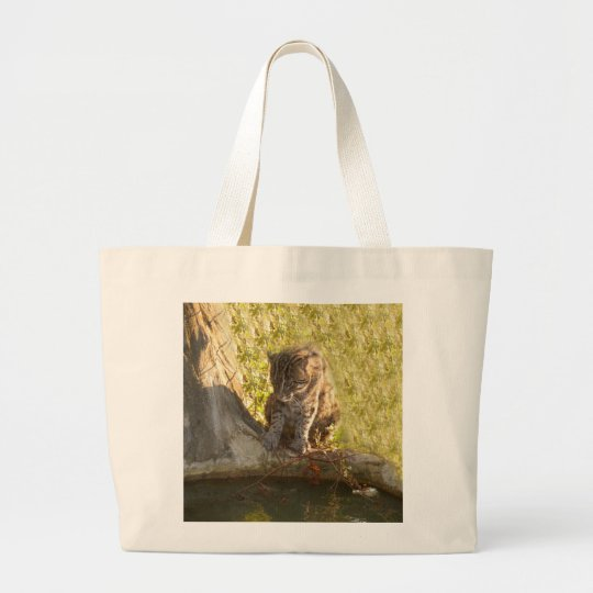 FishingCat010 Large Tote Bag