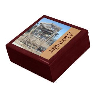 Fishingn postes personalizó la caja de regalo joyero cuadrado grande