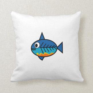 FishingTruths pillow featuring Hugo.