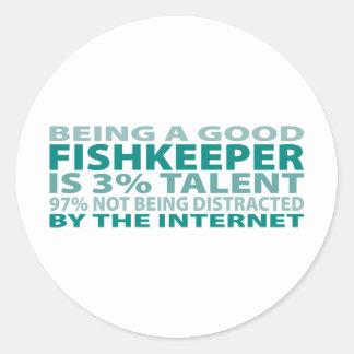 Fishkeeper 3% Talent Classic Round Sticker