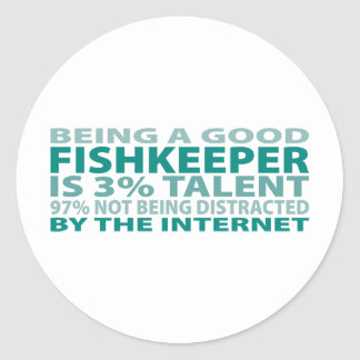 Fishkeeper 3% Talent Round Stickers