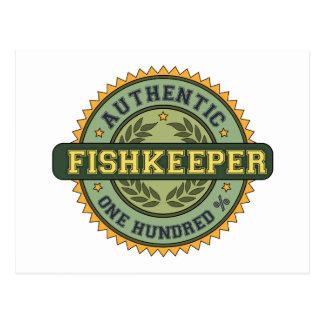 Fishkeeper auténtico tarjeta postal