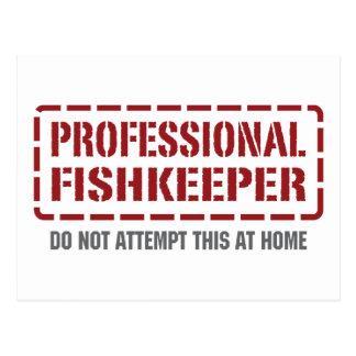 Fishkeeper profesional tarjetas postales