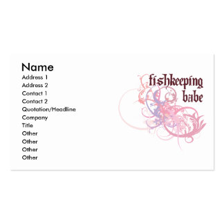 Fishkeeping Babe Business Cards