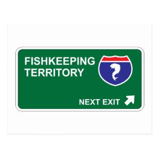 Fishkeeping Next Exit Postcard