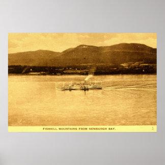 Fishkill Mountains, Newburgh Bay, New York c1915 v Poster