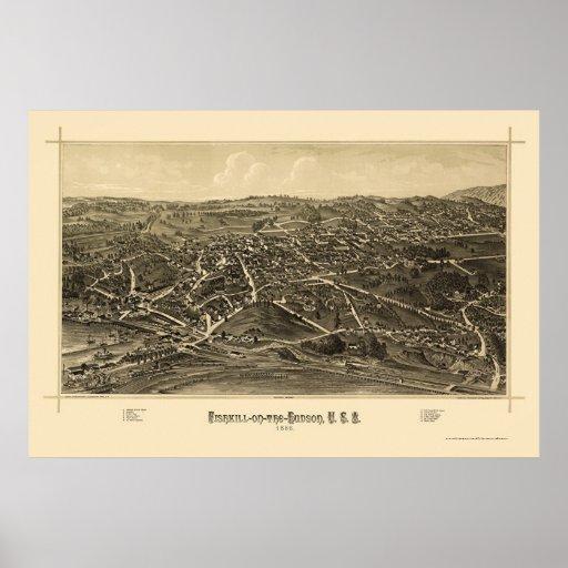 Fishkill, NY Panoramic Map - 1886 Poster