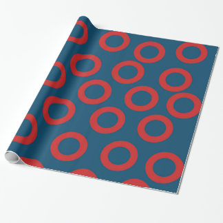 Fishman Donut Wrapping Paper