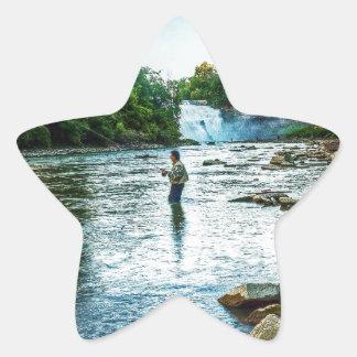 Fishman of the Genesee Star Sticker