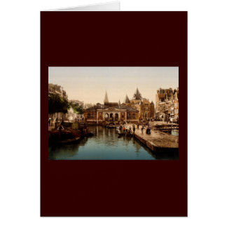 Fishmarket and bourse  Amsterdam Greeting Card