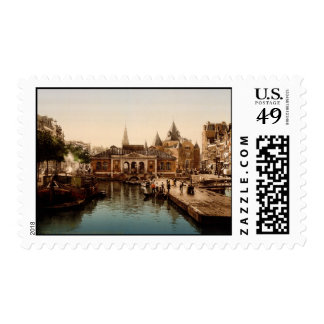 Fishmarket and bourse Amsterdam Postage Stamps