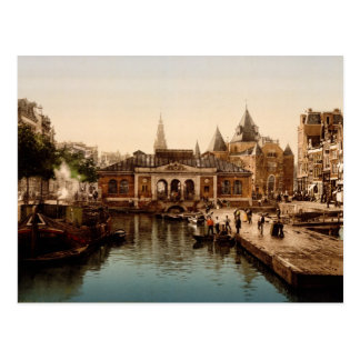 Fishmarket and bourse  Amsterdam Postcards