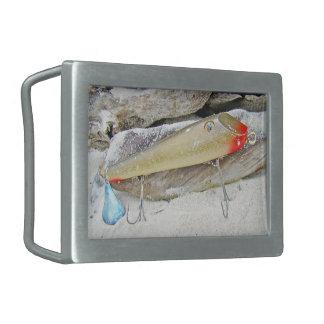 Fishmaster Jerry Sylvester Flaptail Vintage Fishin Rectangular Belt Buckle