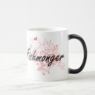 Fishmonger Artistic Job Design with Butterflies Magic Mug