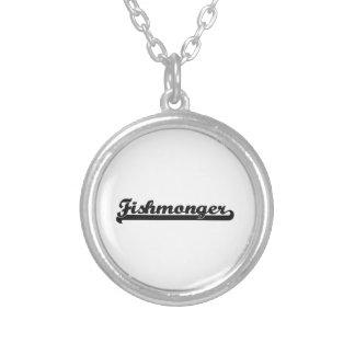 Fishmonger Classic Job Design Round Pendant Necklace