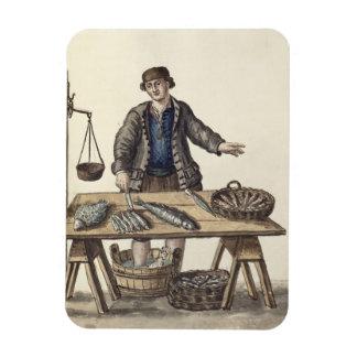 Fishmonger Venetian manuscript Magnet