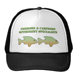 Fishmore & Campsome, Retirement Specialists, cap Hat