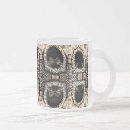 Fishnet Faces Coffee Mugs