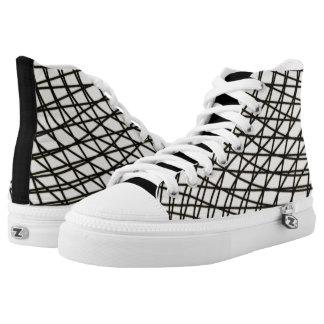 fishnet, net, the grid, basketweave, basketball High-Top sneakers
