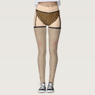 Fishnet Stockings and Leopard Skin Leggings