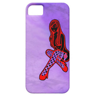Fishnets and Flower Pin-Up (Purple Haze) iPhone SE/5/5s Case