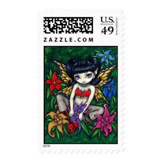 """""""Fishnets and Flowers"""" Stamp"""