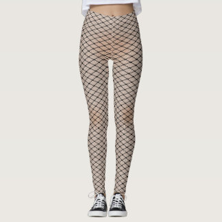 Fishnets and Pale Skin Texture Leggings