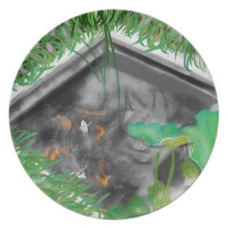 Fishpond Melamine Plate