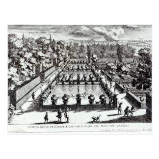 Fishponds at Villa d'Este, Tivoli, from 'Le Fontan Postcard