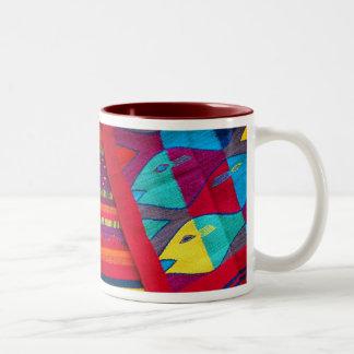 Fishs of the Sea Two-Tone Coffee Mug