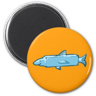 Fishstick Fish 2 Inch Round Magnet