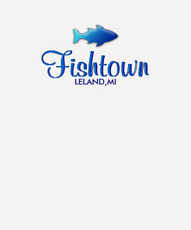 Fishtown -  Leland, MI Ladies 3/4 Sleeve Raglan T-shirt