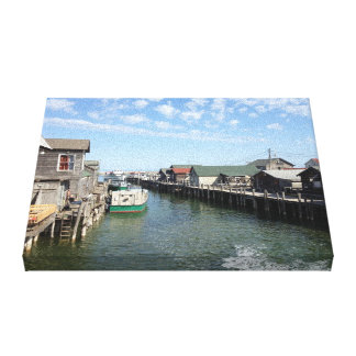 Fishtown, Leland, Michigan Canvas Print