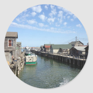 Fishtown, Leland, Michigan Classic Round Sticker