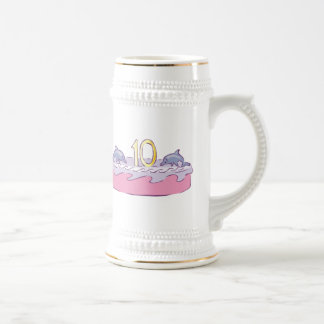 Fishy 10th Birthday Gifts Beer Stein