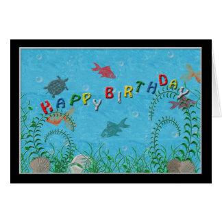 Fishy Birthday Card Card