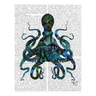 Fishy Blue Octopus Postcard