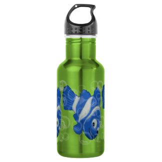 FiShY (blue) Stainless Steel Water Bottle