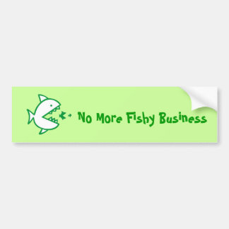 Fishy Business - Green Bumper Sticker