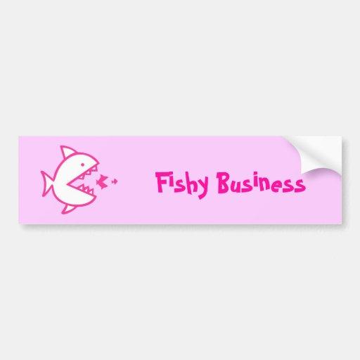 Fishy Business - Pink Car Bumper Sticker